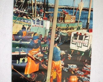 Displays the fishing port 1960s Anne