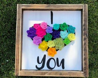 Wood Sign | baby shower gift | Nursery Decor | mothers day gift | Decor | Rustic Decor | girls room | felt decor | felt sign | baby room