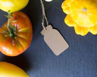 Mason Jar Hang Tags - Kraft Paper - Canning Hangtag - 10 to a pack