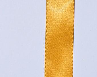 Gold Single Face Satin Ribbon