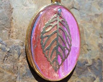 Vibrant Autumn Pendant / one of a kind / gift idea / fall
