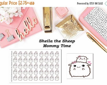 40% Off Sale Sheila the Sheep Mommy Time//Planner Character Stickers//EC//HP