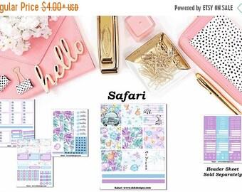40% Off Sale Safari, 5 sheet weekly kit//EC//Hp classic, large mini