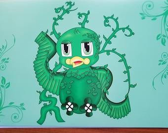 Poison Ivy Superhero Bird Print