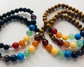 get it OM chakra bracelets