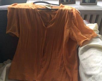 VIntage Emmanuelle Khanh Orange Blouse