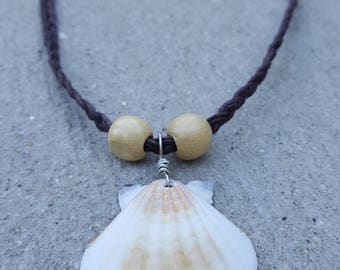 White and Cream Seashell Necklace