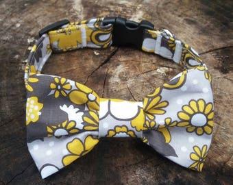 Dog Collar, Floral Dog Collar, Personalized Collar, Dog Collar, Bow Tie Collar, Dog Bow Tie, Wedding Dog, Girl Dog Collar