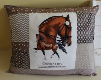 Horse pillow / CLEVELAND BAY