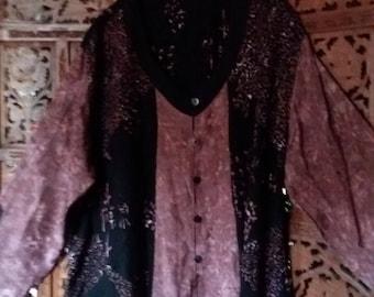 purple hippie tunic plus size
