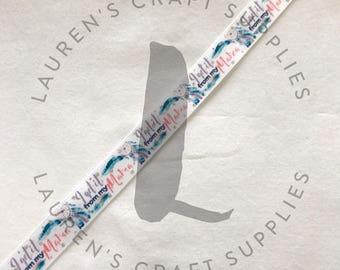 "I Get it From my Mama | Dream Catcher Ribbon | I Get it From my Mama Ribbon | Hairbow Ribbon | US Designer Ribbon | 7/8"" Ribbon | Grosgrain"