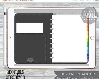ON SALE DIGITAL Planner for GoodNotes, iPad, Undated with linked tabs. Plus free stickers! Monday Start, Instant Download,Weekly,Monthly,Ext