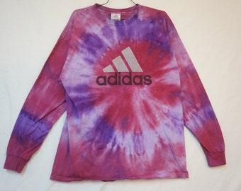 adidas Long Sleeve T-Shirt, Tie Dye, Men's Large 06177