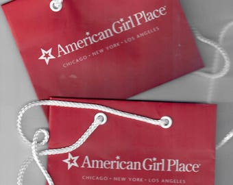 American Girl Mini DOLL SHOPPING BAGS!  American Girl Place / Shop Totes for Dolls