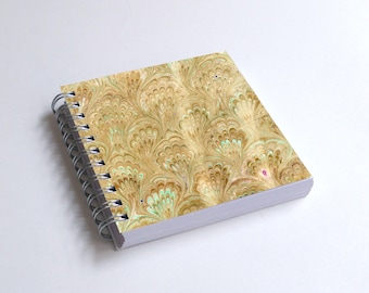 "Notebook 4x4"" decorated with motifs of marbled papers - 9"