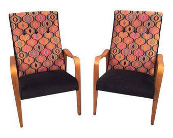 Mid-Century Restored Thonet Bentwood Chairs