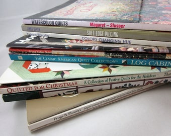 Choice of 4 Quilt Book Lots - Watercolors, for Men, Christmas, and Fans, Frogs & Hearts