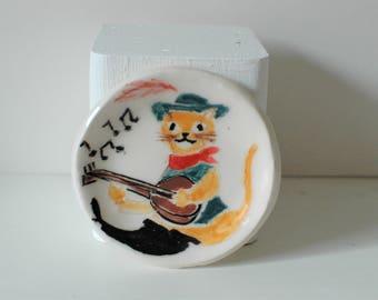 Puss in Boots Ceramic Trinket Dish