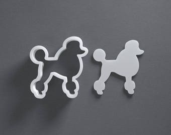 Poodle cookie cutter, dog treat, gift for dog lover