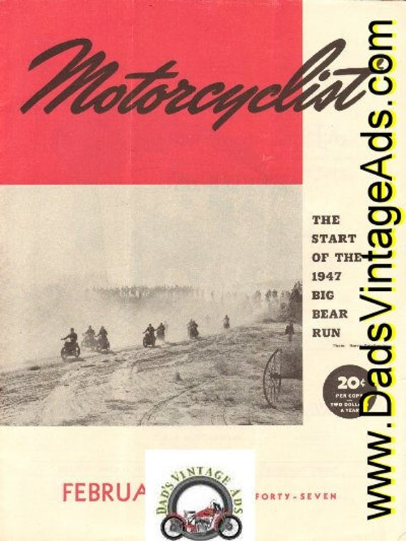 1947 February Motorcyclist Motorcycle Magazine Back Issue #4702mc