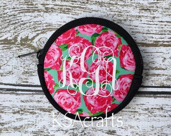 Neoprene Lilly Inspired Coin Purse