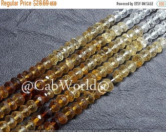 "65% OFF SALE, Citrine Shaded Faceted Beads, ( 3x3 to 4x4 mm), Multi Color Citrine Shaded Faceted Beads, 14 Inch, Multi Faceted-1""Strand, Gem"