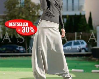 30% OFF Top-Selling Model, Loose Casual Drop Crotch Harem Pants, Extravagant Pants, Plus Size Trousers, Extravagant Pants, by Astraea-03