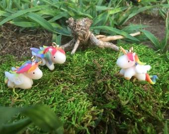 Rainbow Unicorn Charm