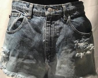 Ralph Lauren distressed bleached denim shorts- size 10