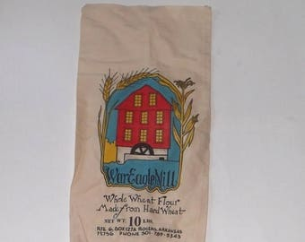 SALE Vintage War Eagle Mill Flour 10 lb Cloth Sack