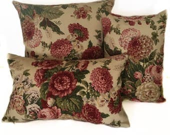 """Waverly Sitting Pretty Antique Designer Pillow Cover with Invisible Zipper - 18""""x18"""", 12"""" x 20"""", 12""""x16"""" - Easy to Put On and Remove!"""