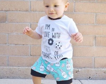 Milk and cookie shorts, baby shorts, shorties, boy shorts, toddler shorts, milk and cookies