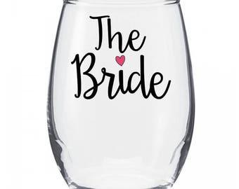 The Bride Wine Glass