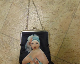Vintage 1920s Flapper Gatsby Chain Handle Bag 20s Jazz Age Roaring Twenties Vintage Bag