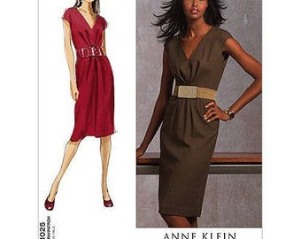Vogue V1025 Size 6-12 or 14-22 Anne Klein Misses Semi-Fitted Lined Sewing Pattern / Uncut FF