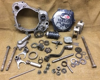 Dirt Bike ATV Salvage Metal Parts Washers Gears Gear Nut Altered Art Sculpture Supply Industrial Automotive Garage Assemblage