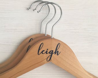 Personalized Wedding Hangers, First Name, Custom Wedding Accessories