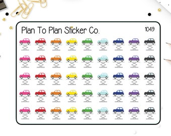 1049- Car Repair Planner Stickers.
