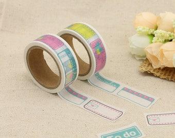 Washi Tape - To Do Washi Tape - Quarter Box Washi Tape - Paper Tape - Planner Washi Tape - Washi - Decorative Tape - Deco Paper Tape