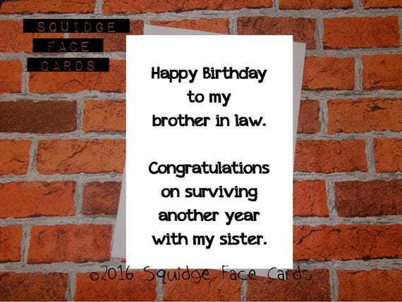 Birthday Cards Brother In Law ~ Funny birthday card happy birthday to my brother in law.