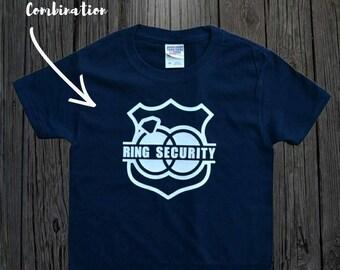 Ring Security Shirt, Ring Bearer Shirt, Ring Bearer Gift, Petal Patrol Shirt, Petal Princess Shirt, Ring Holder Shirt, Any Color