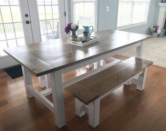 Farm House Table | Custom Built Farm Table | Vintage Farm Table | Dining  Room Table