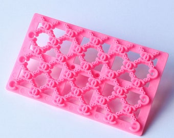 New Chanel  double C  Quilted Cake Fondant Cutter Embossing Mould
