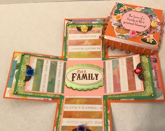 Our Family- Floral- Memory Scrapbox