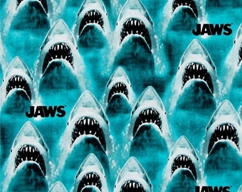 "Classic Jaws - Universal Studios - by Springs Creative fabric, 43-44"" wide, 100% cotton, by the half yard"