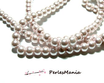 Ref B43 (other sizes available) pale Pearly pink glass beads