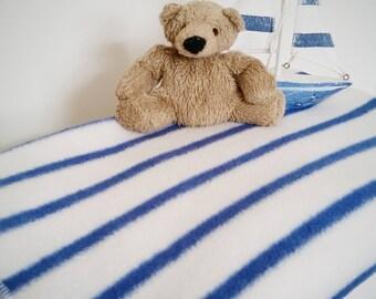 Breton Stripe Baby Blanket.