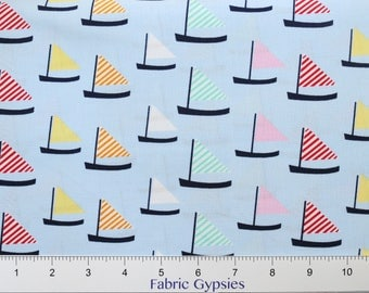 Oh Say Can You Sea by Jack and Lulu for Dear Stella Design ~ SAIL BOATS ~ ST-JL706MAR  Marina ~ By The Half Yard ~