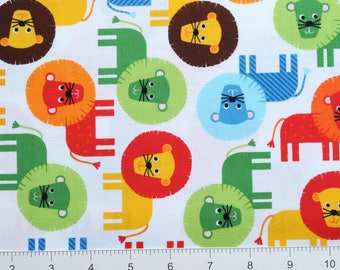 LIONS ~ Urban Zoologie by Ann Kelle for Robert Kaufman ~ AAK13954204 ~ By The Half Yard ~