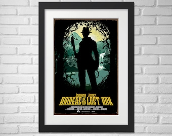 Indiana Jones Movie Poster Illustration / Raiders of the Lost Ark Movie Poster / Movie Poster / Indiana Jones / Raiders of the Lost Ark